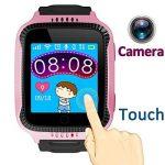 """1.44 """"GPS Tracker Smart Watch Téléphone pour les enfants avec podomètre caméra SIM Appels Anti-perdu SOS Smart Bracelet Smartwatch pour les Enfants Filles Garçons Moniteur de sécurité anniversaire Cadeaux de vacances (Rose * Noir) de la marque TURNMEON image 1 produit"""