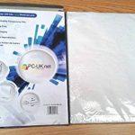 100 Feuilles A4 OHP film transparent supplémentaire 5 feuilles pour projecteur / film OHP papier transparent 21 x 29.7cm compatible impressions laser mono noir & blanc PC-UK.NET de la marque PC-UK.NET image 2 produit