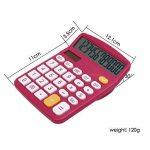 100Packs calculatrice, Hi-Tech calculatrice de bureau électronique avec grand écran LCD écran, Énergie solaire calculatrice de bureau à 12chiffres (Rouge) de la marque MUHWA image 3 produit
