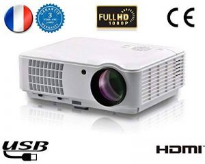 1080P VidéoProjecteur LED vidéo Projecteur FULL HD 1920x1080 vidéoprojecteur 3D 4000 lumens Projecteur Home cinéma pour Jeux Vidéo Film Avec Ports d'entrée HDMI USB VGA RCA soutien PC PS4 XBOX WII DVD de la marque FR BRAND image 0 produit