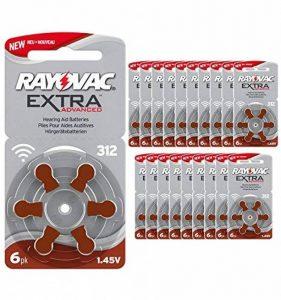 120 piles auditives Rayovac 312 Extra advanced / pile auditive PR41 / piles pour appareils auditifs / 312AE,A312,DA312,P312,PR312H de la marque Rayovac image 0 produit