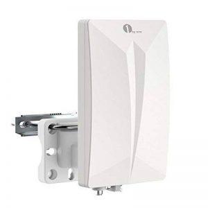 1Byone Chambre Antenne Antenne/pour HDTV/DVB-T/T2la télévision/Récepteur de DVB-T, VHF/UHF/FM, revêtement anti-UV, étanche et design bündiges de la marque 1 BY ONE image 0 produit