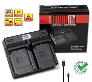 """'2x Premium Batterie blg10+ 4en 1Chargeur Secteur + Câble d'alimentation pour Panasonic Lumix gx80gx80K2gx80h gx80hegk gx80heg K gx80wegk–100% décodé–avec puce–avec affichage du temps restant–""""dernière génération gx80 Dualladegerät de la ma image 0 produit"""