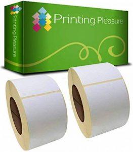 2 x Zebra 72mm x 36mm Étiquettes pour Zebra Type Imprimante d'étiquettes / 1000 Étiquettes par Rouleau de la marque Printing Pleasure image 0 produit