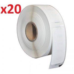 20 Rouleaux 38mm x 25mm Thermique Papier Étiquettes (2000 Étiquettes par Rouleau) compatible pour Zebra, Toshiba, Citizen, Eltron, Orion, UPS Etiqueteuses de la marque Prestige Cartridge image 0 produit