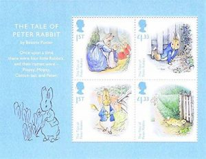 2016 – Le conte de Beatrix Potter Peter Rabbit miniature feuille N ° 120 avec code barre – Royal Mail timbres de la marque Royal Mail image 0 produit