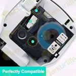 2x Markurlife Ruban pour Dymo D1 45013 S0720530, Noir sur Blanc, 12mm x 7m étiquette, Compatible avec Dymo LabelManager 160, 360D, 420P, 450D, 500TS, Wireless PnP, LabelPoint 250, LabelWriter 450 DUO, Rhino de la marque Markurlife image 1 produit