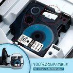 3D145013Police Ruban compatible pour DYMO D112mm x 7m Noir sur Blanc, étiquettes Lable Tape pour DYMO LabelManager 160, 210D, 360d, 450D, 500ts, Labelpoint 250, PC, PC2, PNP, PNP, WiFi, LabelWriter 450Duo, 3m PL100, Rhino de la marque Oozmas image 2 produit