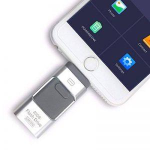 3en 1OTG externe Stylo lecteurs USB flash drive pour iPhone I-flash Memory Stick pour iPhone 8/7/6/6S/5/iPad téléphones Samsung 256 Go Silver de la marque yoga_store image 0 produit