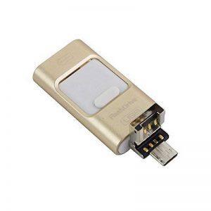 3en 1OTG externe Stylo lecteurs USB flash drive pour iPhone I-flash Memory Stick pour iPhone 8/7/6/6S/5/iPad téléphones Samsung 64 Go doré de la marque yoga_store image 0 produit