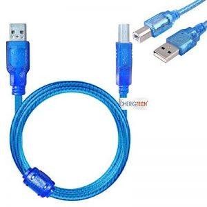 3m câble USB de transfert de données pour Epson Expression Premium XP-620All-in-One Printer–scanner à plat et d'impression rapide pour PC/Mac/Windows de la marque DHERIGTECH® image 0 produit