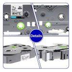 3 x Ruban Cassette Laminé TZ Tape Compatible avec Brother TZe-231 / TZ-231 12mm x 8m Noir sur Blanc pour Brother P-Touch PT-1000 PT-1010R PT-2030VP PT-2430PC PT-D600VP PT-E100 PT-H110 PT-D210 PT-9700PC PT-D400 de la marque TOPLABEL image 3 produit