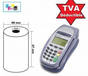 30 Bobine rouleaux 57 mm x 40 mm 57 x 40 de Papier Thermique pour Caisse carte bancaire , tpe, terminal de paiement Ticket Rouleaux de la marque UNIVERS-GRAPHIQUE image 0 produit