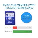 32Go carte mémoire SD par Keple   carte SD pour Optoma, BenQ, Viewsonic, Sony, Epson Home Cinema Projecteur de poche LED portable Compact avec SD Slot   High Speed SDcard Stockage de 32Go Classe 10UHS-1U1carte SDHC pour HD vidéos et photos de la marq image 3 produit