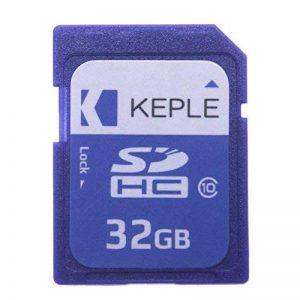32Go carte mémoire SD par Keple   carte SD pour Optoma, BenQ, Viewsonic, Sony, Epson Home Cinema Projecteur de poche LED portable Compact avec SD Slot   High Speed SDcard Stockage de 32Go Classe 10UHS-1U1carte SDHC pour HD vidéos et photos de la marq image 0 produit