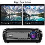 3200 Lumens Projecteur Full HD 1080P Vidéoprojecteur, LESHP LED Vidéoprojecteur de Cinéma Maison 1280 × 1920 Contraste Max 3000: 1, Support USB / VGA / SD / HDMI de la marque LESHP image 2 produit