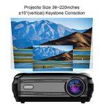 3200 Lumens Projecteur Full HD 1080P Vidéoprojecteur, LESHP LED Vidéoprojecteur de Cinéma Maison 1280 × 1920 Contraste Max 3000: 1, Support USB / VGA / SD / HDMI de la marque LESHP image 1 produit