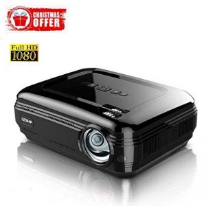 3200 Lumens Projecteur Full HD 1080P Vidéoprojecteur, LESHP LED Vidéoprojecteur de Cinéma Maison 1280 × 1920 Contraste Max 3000: 1, Support USB / VGA / SD / HDMI de la marque LESHP image 0 produit