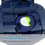 3x Ruban Dymo pour Etiqueteuses LetraTag Papier 12mm x 4m Noir sur Fond Blanc, Compatible pour Dymo LetraTag LT-100H LT-100T Étiqueteuse Portable de la marque Fimax image 3 produit