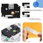3x Ruban pour Etiqueteuse 12mm Compatible Brother P-touch TZe-231 TZe231 Laminé Ruban Cassettes, avec PT-H100LB PT-E100 PT-D400 PT-1250 PT-H110 PT-1000 PT-1010R, noir sur blanc de la marque startup image 3 produit