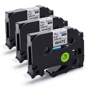 3x Ruban pour Etiqueteuse 12mm Compatible Brother P-touch TZe-231 TZe231 Laminé Ruban Cassettes, avec PT-H100LB PT-E100 PT-D400 PT-1250 PT-H110 PT-1000 PT-1010R, noir sur blanc de la marque startup image 0 produit