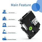3x Ruban pour Etiqueteuse 12mm Compatible Brother P-touch TZe-231 TZe231 Laminé Ruban Cassettes, avec PT-H100LB PT-E100 PT-D400 PT-1250 PT-H110 PT-1000 PT-1010R, noir sur blanc de la marque startup image 4 produit