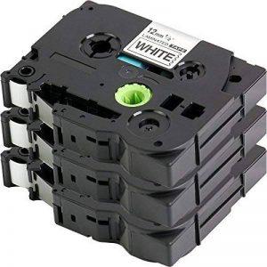 3x Ruban pour Etiqueteuse Compatible remplace Brother TZe-231 / TZ-231 | noir sur blanc / 12mm x 8m | pour Brother P-Touch 1000W 1010 1090 1830VP 2030VP 2100VP 2430PC 2470 2730VP 7100 VP7600VP H100R H300 D200VP et autres P-Touch étiqueteuse de la marque C image 0 produit