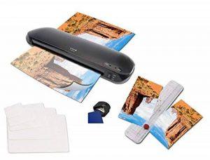 4 en 1. La plastifieuse Olympia A 330 plus avec couteau, 15 feuilles plastiques pour cartes de visite et arrondisseur d'angles de la marque Olympia image 0 produit