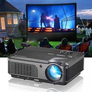 4200 Lumen Wxga LCD Projecteur Backyard Films Cinéma Maison Cinéma Vidéo Projecteurs Soutien Full HD 1080 P, HDMIx2 USBx2 Ypbpr VGA Audio Multimédia TV Proyector pour Gaming TV Voir DVD Blu-ray Xbox PS4 de la marque WIKISH image 0 produit