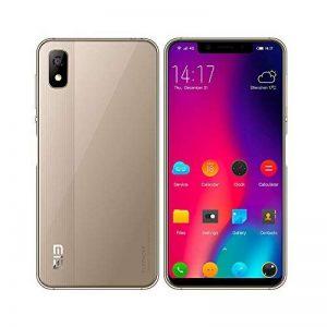 """4G Smartphone Telephone Portable 5.58"""" - Reconnaissance Faciale, Android 8.1, Empreintes Digitales, 3Go Ram 16Go Rom, 5MP+8MP CaméraS, Dual SIM, OTG/GPS/Bluetooth,WiFi - Elephone A4 Or de la marque elephone image 0 produit"""