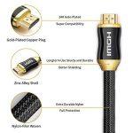 4K Câble HDMI 2.0A High Speed,Support 4K Ultra HDTV , UltraHD, FullHD ,HDR, Ethernet, 3D et ARC-CEC pour TV,Ordinateurs Portables,PS3/PS4, Xbox, Projecteur, Moniteur, DVD BlueRay,AV-Receiver 1/2/3/5M (1.5M) de la marque BOYG image 4 produit