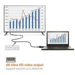 4U Adaptateur DP vers HDMI 4K, DisplayPort mâle vers HDMI Femelle Ultra HD Connecteur Support 4K * 2K & 3D Audio/Vidéo pour ordinateur portable/Pc à HDTV/Projecteur, Noir de la marque 4U image 4 produit