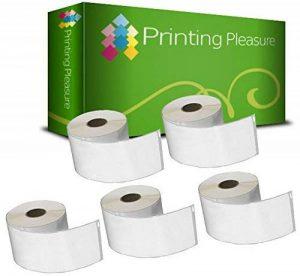 5 x 99012 Étiquettes pour Dymo LabelWriter & Seiko Imprimante d'étiquettes / 36mm x 89mm / 260 Étiquettes par Rouleau de la marque Printing Pleasure image 0 produit