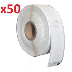 50 Rouleaux 52mm x 25mm Thermique Papier Étiquettes (2000 Étiquettes par Rouleau) compatible pour Zebra, Toshiba, Citizen, Eltron, Orion, UPS Etiqueteuses de la marque Prestige Cartridge image 0 produit