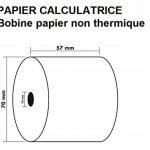 50 Rouleaux de recharge pour calculatrices et caisses enregistreuses à impression NON THERMIQUE papier 1 feuile électrique bobine Blanc 57 x 70 x 12 mm Bobine Comptable 57x70 Afn7 60g de la marque UNIVERS GRAPHIQUE image 2 produit