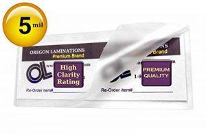 500Hot Grande Marque-page Pochettes de plastification 5mil 2–3/8x 8–1/2 de la marque Oregon Lamination Premium image 0 produit