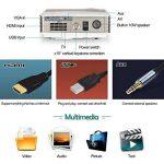 5000 Lumens LCD HD Projecteur numérique 1280x800 Résolution Support 1080p LED Cinéma Maison Projecteur avec 2 HDMI 2 USB VGA AV Audio Out pour Le Divertissement extérieur iPhone iPad DVD Xbox Jeu PC de la marque CAIWEI image 2 produit