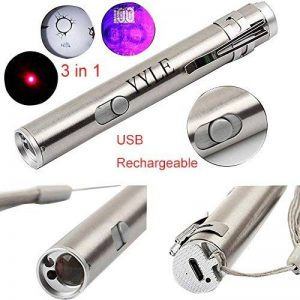 500LM 3en 1Mini lampe USB rechargeable LED UV Taschenlampe Pen multifonctionnelle en aluminium de la marque YYLE image 0 produit