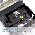 5x Ruban pour Étiqueteuse Brother TZe-231 Noir sur Blanc 12mm x 8m Etiquette pour Brother P-Touch H100LB GL-H100 GL-200 PT-H101C PT-E100VP 1000W 1010 1090 1830VP 2030VP 2100VP 2430PC 2470 2730VP 7100 VP7600VP H100R H300 D200VP de la marque Fimax image 2 produit