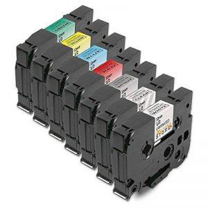 7 x Ruban Etiqueteuse Cassette Compatible Brother P-Touch TZe-131 TZe-231 TZe-431 TZe-531 TZe-631 TZe-731 TZe-931 / 12mm x 8m Cassette laminée Remplacer Brother p-touch 1000 p-touch 2430pc p-touch 900 1010 p-touch d400 Lot de 7 Ruban Cassettes 31 de la ma image 0 produit