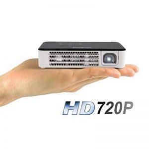 AAXA P300 Neo Projecteur Pico, 2,5 Heures d'autonomie, Résolution HD Native de 720p (supporte Le 1080p), 30 000 Heures Del, 420 Lumen, Lecteur Multimédia, HDMI, Mini-VGA de la marque AAXA Technologies image 0 produit