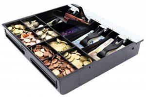 ACROPAQ BSIT410 - Insert pour les tiroirs 41cm, 8 compatiments billets et 8 compartiments monnaies, Compartiment monnaies amovible, 32x36x6cm, Noir de la marque Acropaq image 0 produit