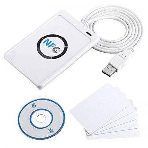 ACS ACR122U USB 2.0 Blanc lecteur de cartes à puce - Lecteurs de cartes à puce (USB 2.0, 65 x 12,8 x 98 mm, 70 g, Windows 2000,Windows 2000 Professional,Windows 7 Home Basic,Windows 7 Home Basic x64,Windows 7..., Android, ISO 14443, CE, FCC, KC, VCCI, PC/ image 0 produit