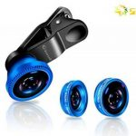 Act® 3 en 1 Universal clip appareil photo de téléphone portable objectif 180 degrés Fisheye 10x objectif macro 0.4x grand angle Objectif pour iPhone, HTC, Sony, Samsung, smart phone, iPad, Android, Motorola, Tablet PC de la marque Act image 1 produit