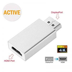 Actif DP vers HDMI 4K,4U Adaptateur DisplayPort vers HDMI Ultra HD Adaptateur avec boîtier en Aluminium support 4K@30 Hz et 3D pour Ordinateur Portable/PC vers HDTV/Vidéoprojecteur,Argent de la marque 4U image 0 produit