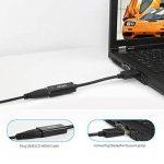 Adaptateur DisplayPort vers HDMI [4K], ICZI DP Câble mâle vers HDMI Femelle, Connecteurs dorés, pour TV 4K, HDTV, Moniteur, Projecteurs, Ordinateurs portables et autres [Noir] (1080P, Noir) de la marque ICZI image 4 produit