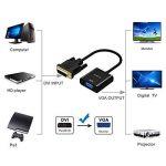 Adaptateur DVI Vers VGA, GANA 1080p Actif Adaptateur DVI-D Vers VGA Supporte 1080P/3D Pour PC/Moniteur/HDTV et Projecteur Etc de la marque GANA image 2 produit