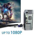Adaptateur DVI Vers VGA, GANA 1080p Actif Adaptateur DVI-D Vers VGA Supporte 1080P/3D Pour PC/Moniteur/HDTV et Projecteur Etc de la marque GANA image 4 produit