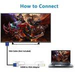 Adaptateur HDMI vers VGA avec audio, Foinnex Active Adaptateur HDMI vers VGA/convertisseur câble avec audio Cord pour connexion PC, ordinateur portable, DVD, Xbox 360One, PS4/PS3, Tv-box vers TV, moniteur, Vidéoprojecteur, mâle vers femelle de la marque image 2 produit