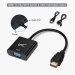 Adaptateur HDMI vers VGA avec Audio HDMI to VGA Convertisseur IPSmart 1080P Excellente image HDCP Pass-through pour moniteur CRT/LED, HDTV, PS3/4, XBOX360, projecteur etc. de la marque IPSmart image 2 produit